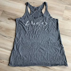 Next Level Racerback Gray Tank Bride Babes